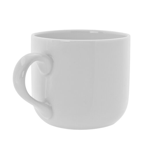 Ten Strawberry Street Royal White 13 oz. Round Latte Mug