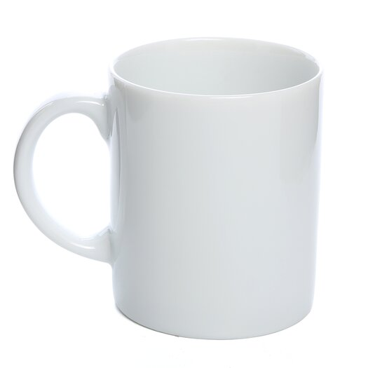 Ten Strawberry Street Classic White 8 oz. C Handle Straight Sided Mug
