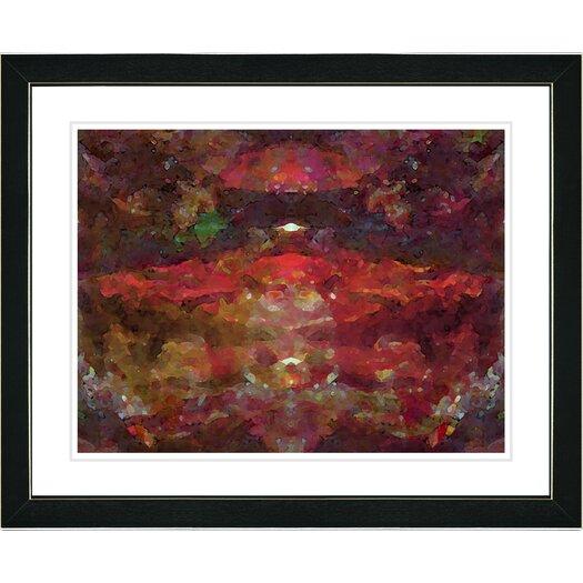 "Studio Works Modern ""Voice - Red"" by Zhee Singer Framed Fine Art Giclee Print"