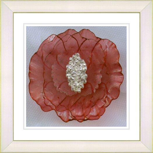 "Studio Works Modern ""Crystal Flower - Orange"" by Zhee Singer Framed Fine Art Giclee Painting Print"