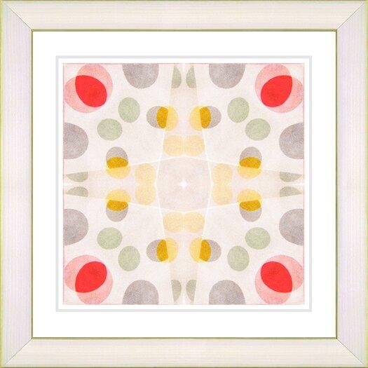 "Studio Works Modern ""Origami Pattern"" by Zhee Singer Framed Fine Art Giclee Painting Print"