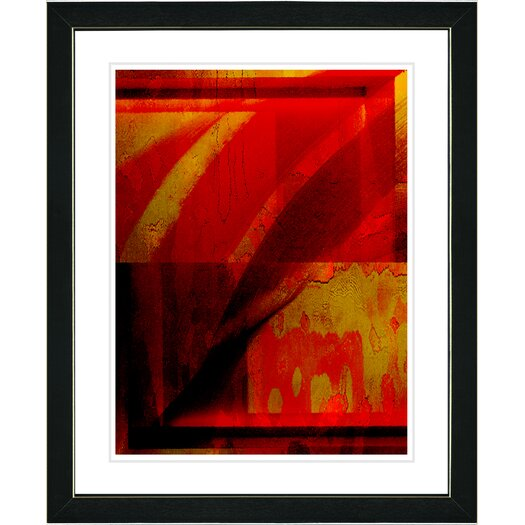 "Studio Works Modern ""Cinnabar Que"" by Zhee Singer Framed Fine Art Giclee Painting Print"