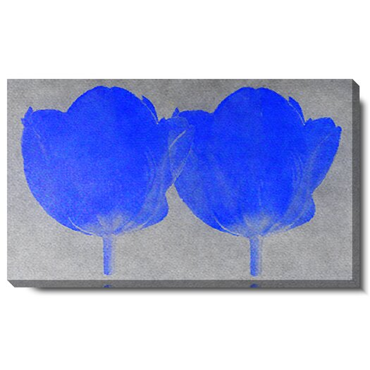 Studio Works Modern Twin Tulip by Zhee Singer Painting Print on Canvas