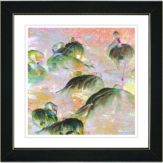 "Studio Works Modern ""Flamingo Morning Time"" by Zhee Singer Framed Fine Art Giclee Painting Print"