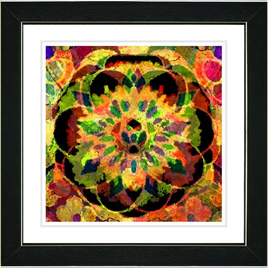 "Studio Works Modern ""Sun Yellow Cabochan"" by Zhee Singer Framed Fine Art Giclee Painting Print"