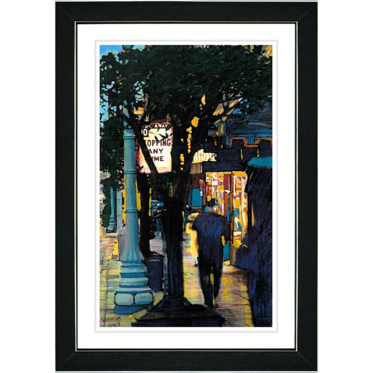"Studio Works Modern ""Evening Walk"" by Zhee Singer Framed Fine Art Giclee Painting Print"