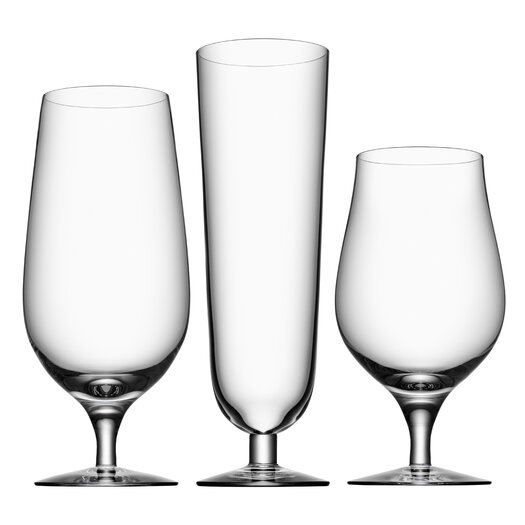 Orrefors 3 Piece Beer Glass Set