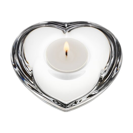 Orrefors Amour Crystal Tealight Holder
