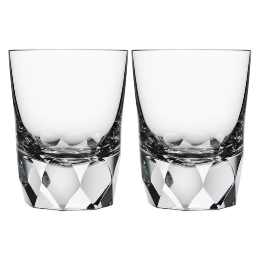 Orrefors Carat Double Old Fashioned Glass