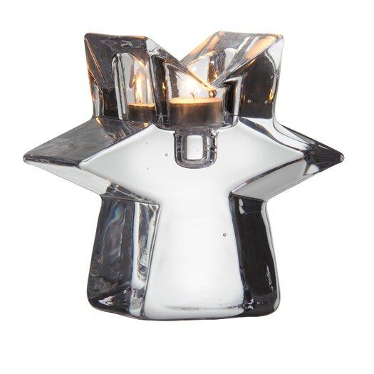 Kosta Boda Glimmer Clear Star Candlestick