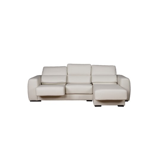 Eurosace Luxury Genny Sectional - Top Grain Italian Leather