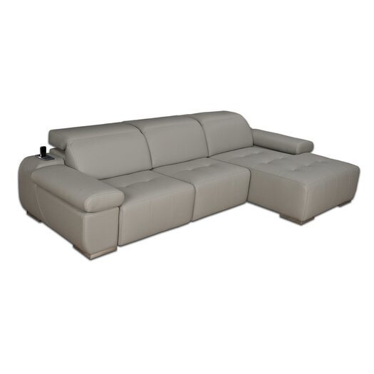 Eurosace Luxury Space Deluxe Version Sectional - Top Grain Italian Leather