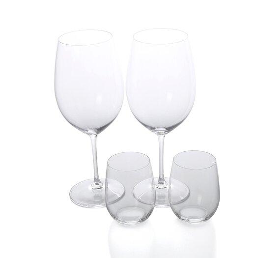 """Riedel Vinum XL 4 Piece Cabernet Glass and """"O"""" Glass Set"""