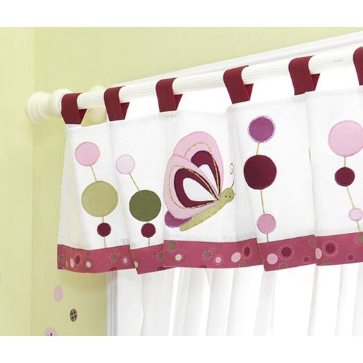 "Lambs & Ivy Raspberry Swirl 59.5"" Curtain Valance"