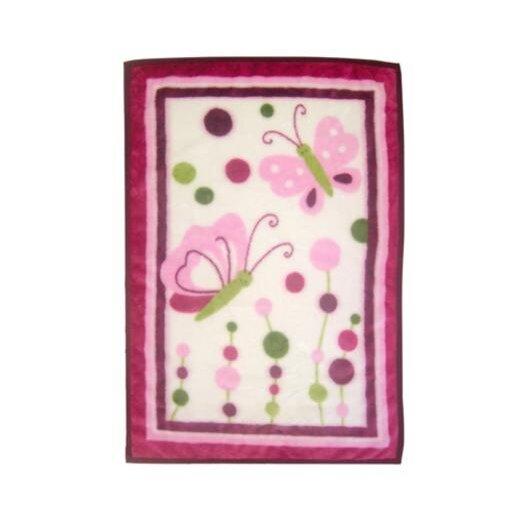 Lambs & Ivy Raspberry Swirl High Pile Blanket