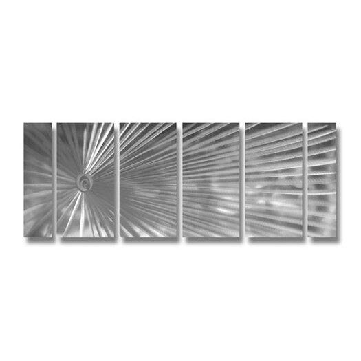Pure Art Abstract Sculptures Sunburst of Avignon 6 Piece Original Painting Plaque Set