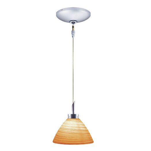 Jesco Lighting Collin 1 Light Pendant and Canopy Kit