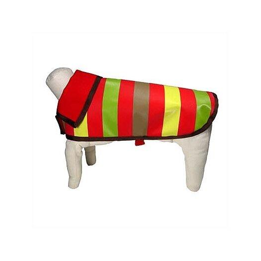 George SF Reversible Nylon Mod Stripe Dog Rain Jacket
