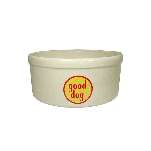 George SF Good Dog Logo Porcelain Dog Water Bowl