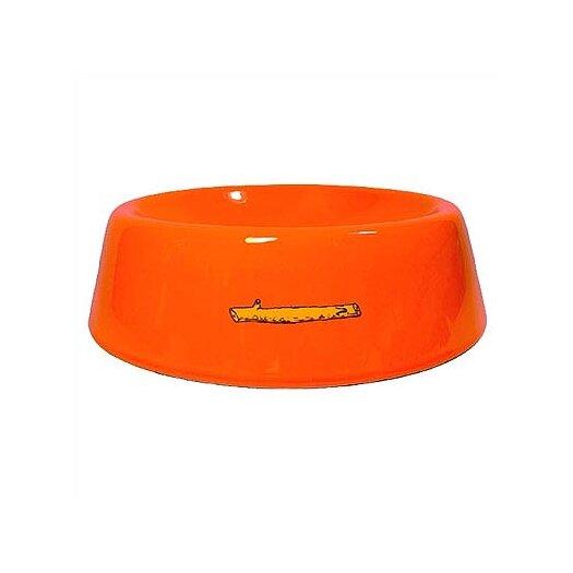 George SF Stick Logo Slope Side Pet Bowl