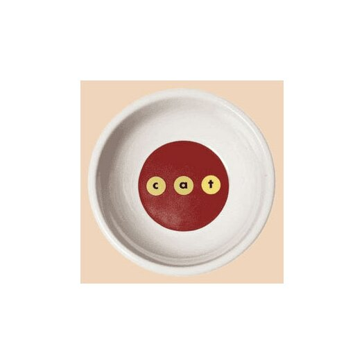 George SF Modern c-a-t Porcela Cat Bowl