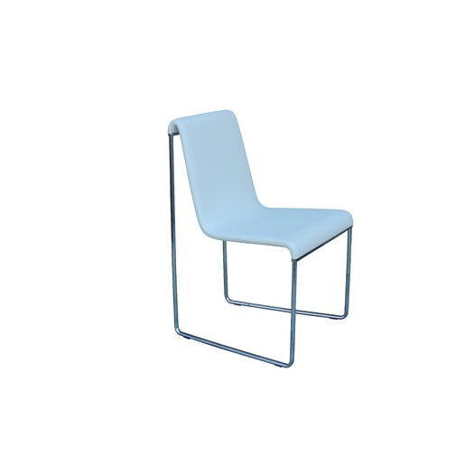 Slender Eco Leather Chrome Frame Side Chair