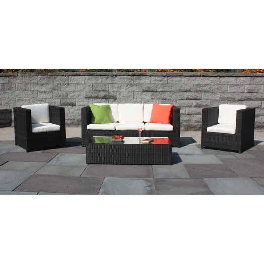 ElanaMar Designs South Hampton 4 Piece Seating Group with Cushion