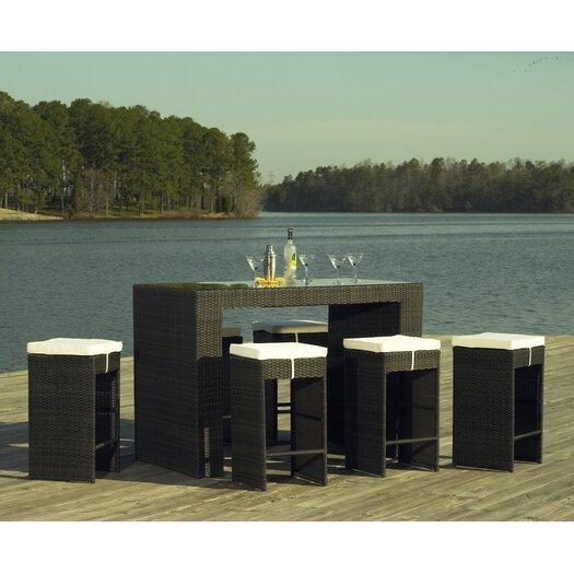 ElanaMar Designs South Hampton 7 Piece Bar Set with Cushions