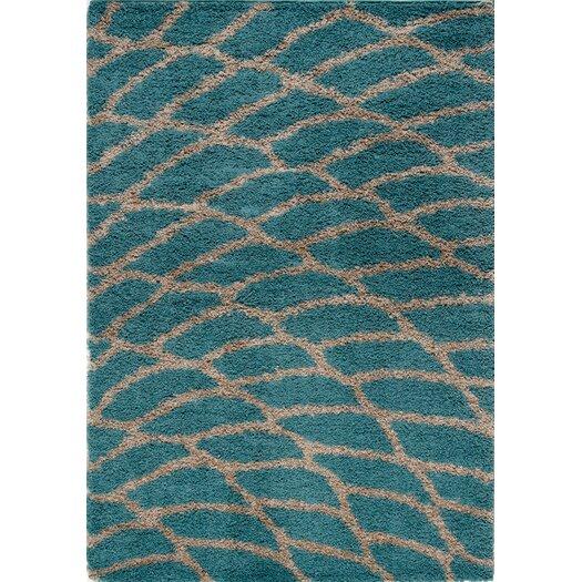 Kalora Shaggy Peacock Area Rug