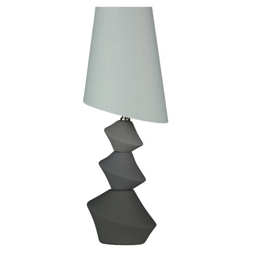 """Cortesi Home LumiRock Asteroid 22"""" H Table Lamp with Empire Shade"""