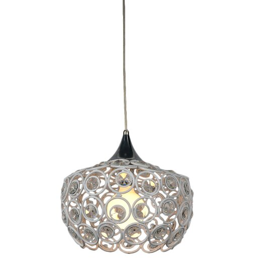 Bromi Design Holland 1 Light Crystal Pendant