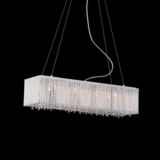 Bromi Design Crystalline 8 Light Crystals Chandelier