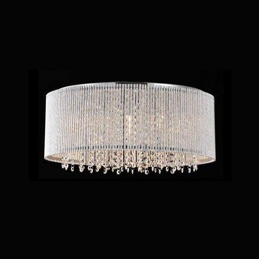 Bromi Design Crystalline 10 Light Crystals Chandelier
