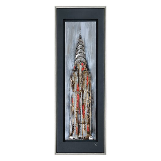 Ren-Wil Manhattan Illuminated by Giovanni Russo Framed Original Painting
