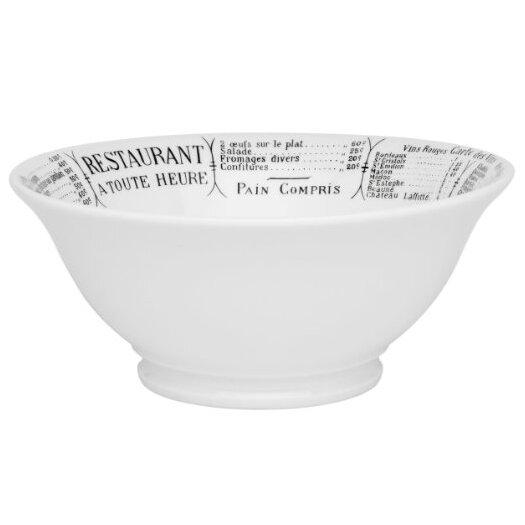 Pillivuyt Brasserie 20 oz. Footed Salad Bowl