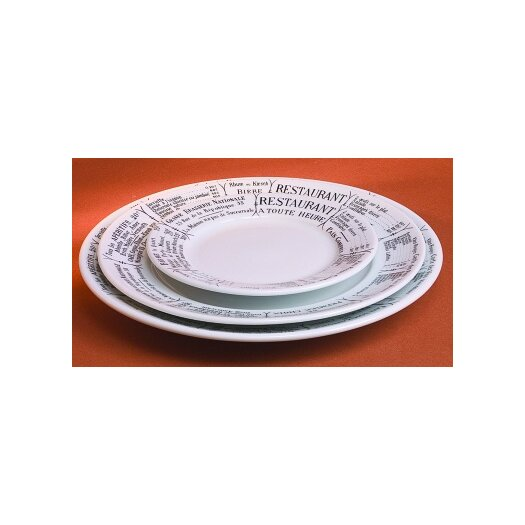 """Pillivuyt Brasserie 9.5"""" Plate"""