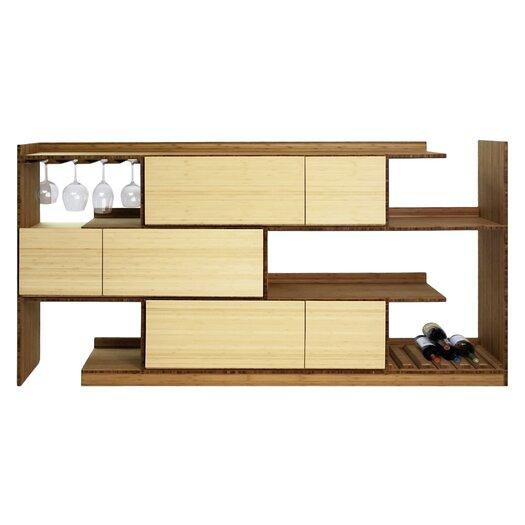 Stagger Bamboo Server Shelf