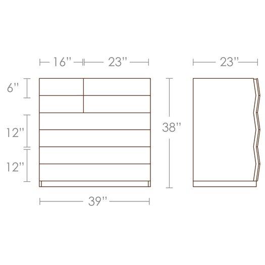 Brave Space Design Planar 5 Drawer Dresser