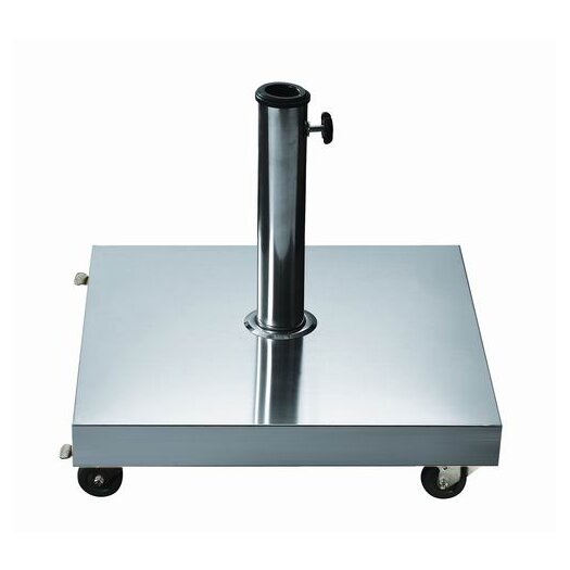 Dayva International Free Standing Square Stainless Steel Umbrella Base