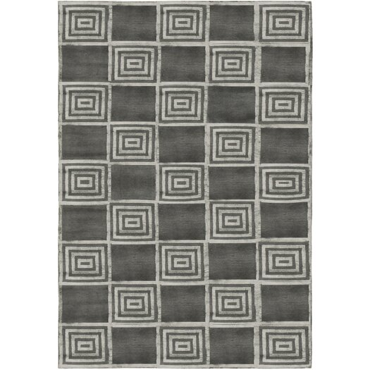Alistair Tiles Platinum Black/Gray Area Rug