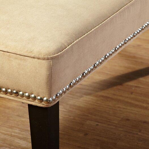 TMS Microfiber Nailhead Bedroom Bench
