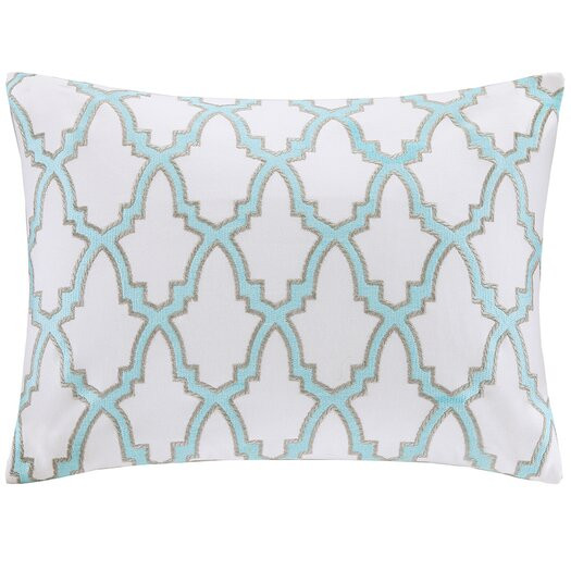 Intelligent Design Embroidered Oblong Pillow