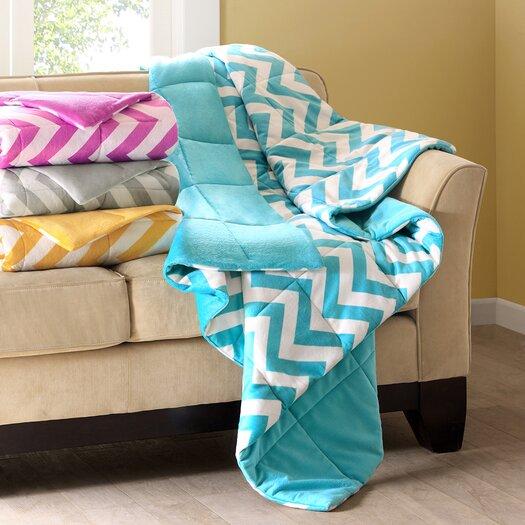 Intelligent Design Chevron Polyester Throw Blanket