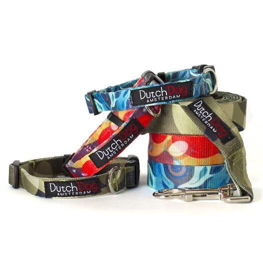 Dutch Dog Nature Aqua Flora by Susan Melrath Fashion Dog Leash