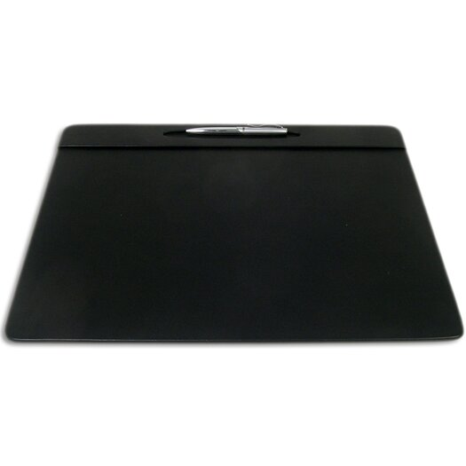 Dacasso 1000 Series Classic Leather 17 x 14 Pen Well Conference Pad in Black