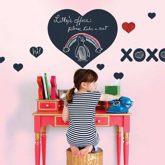 Chalkboards Heart Wall Decal 10 Piece Set