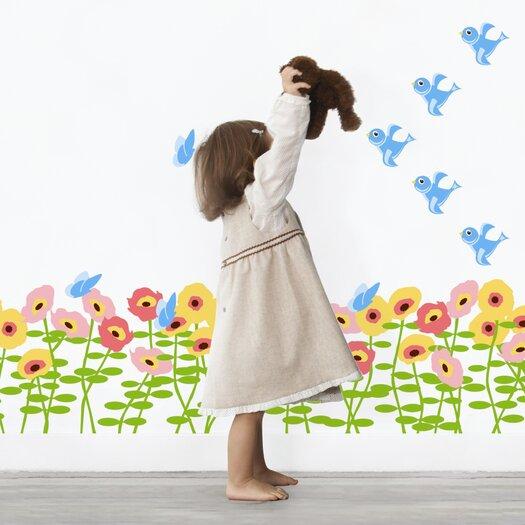 WallCandy Arts Nature Blossoms Wall Decal 72 Piece Set