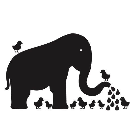 WallCandy Arts Chalkboards Baby Elephant Wall Decal 43 Piece Set
