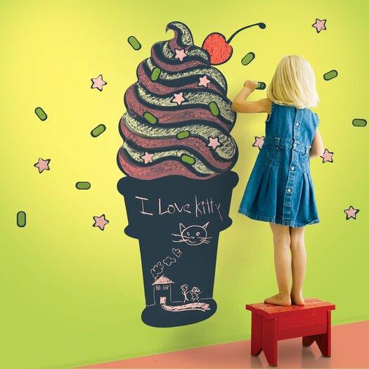 WallCandy Arts Ice Cream Cone Chalkboard Wall Decal