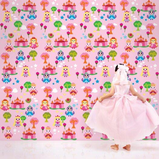 WallCandy Arts French Bull Princess Wallpaper
